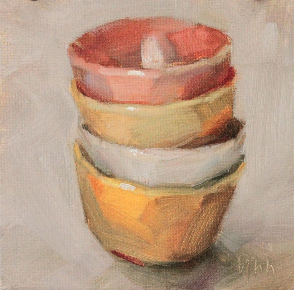 """""""Still life"""" original fine art by Yuehua He"""