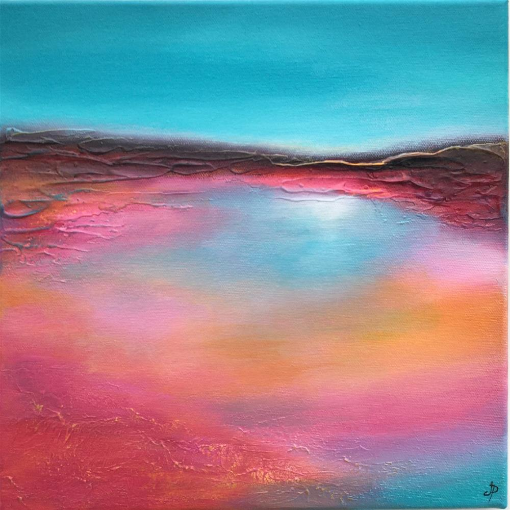 """Pink Shore"" original fine art by Jane Palmer"