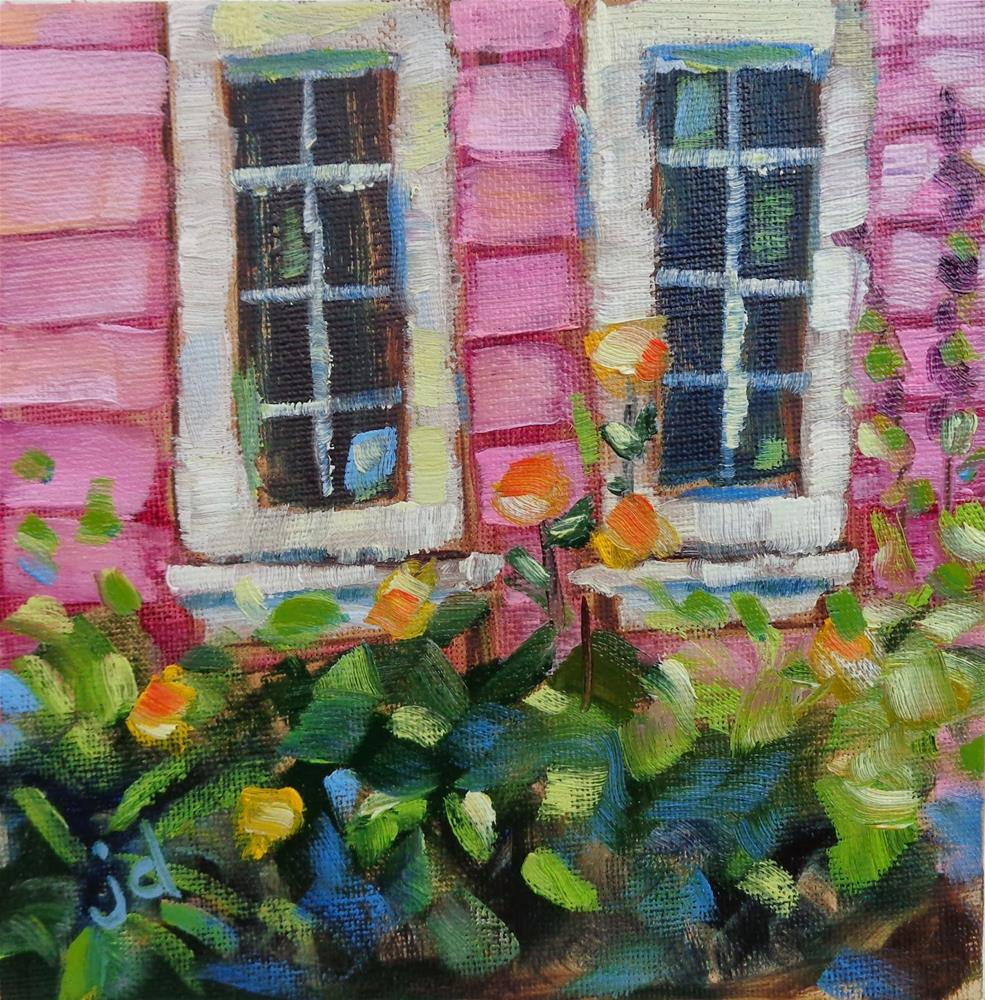"""Simply pink"" original fine art by Jean Delaney"