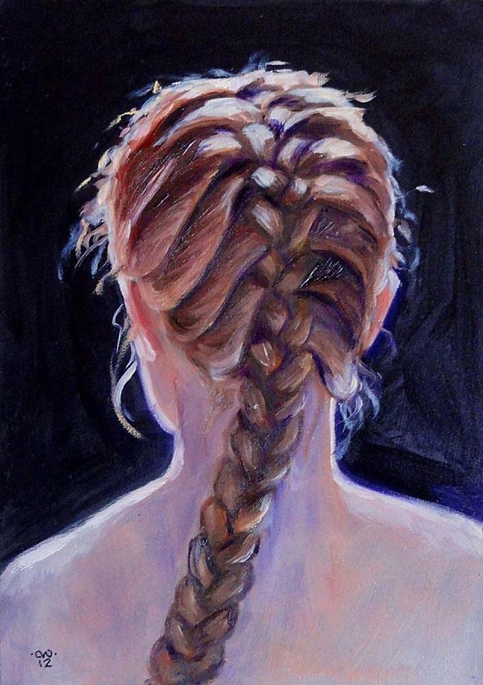 """""""French Braid"""" original fine art by Cietha Wilson"""