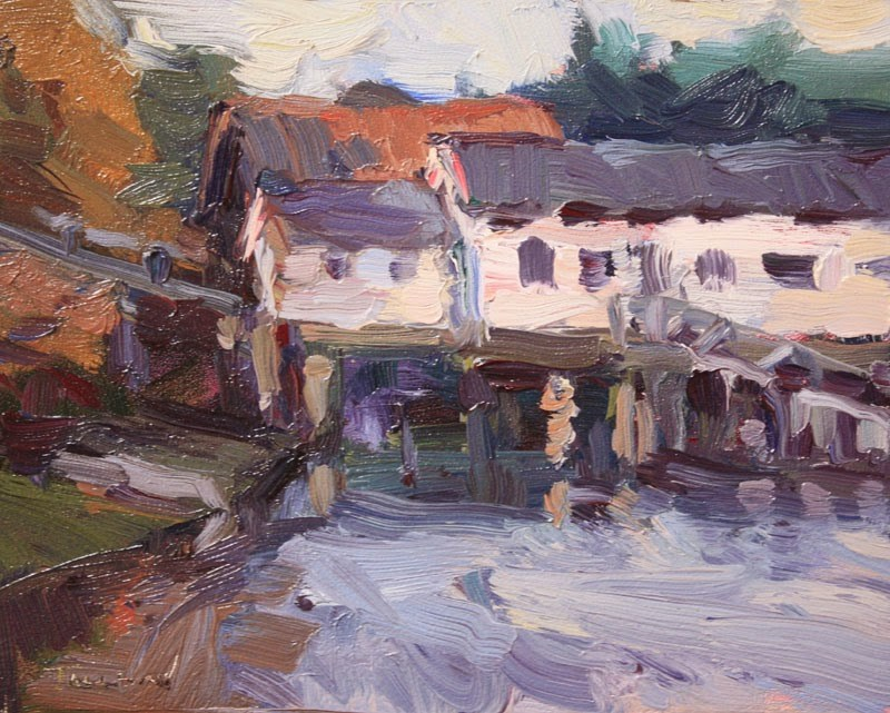"""Boathouse"" original fine art by Kathryn Townsend"