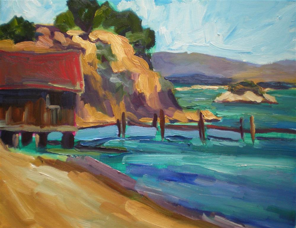 """China Camp Beach"" original fine art by Loralee Chapleau"