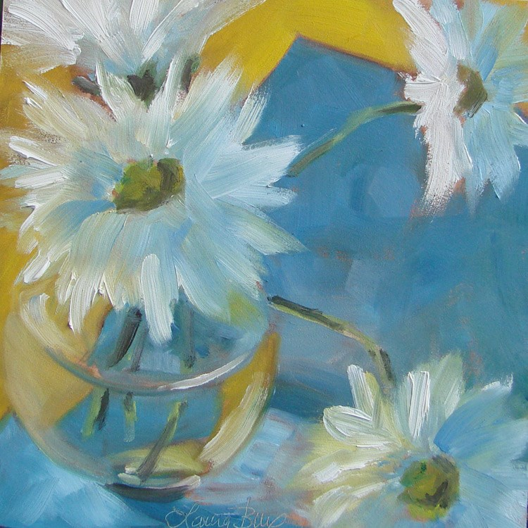 """Everything is Coming Up Daisies 440"" original fine art by Laura  Buxo"