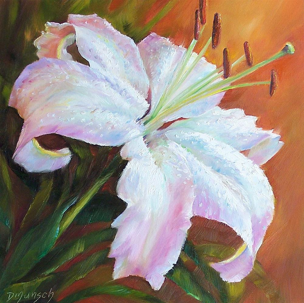"""Rainbow Lily"" original fine art by Donna Munsch"