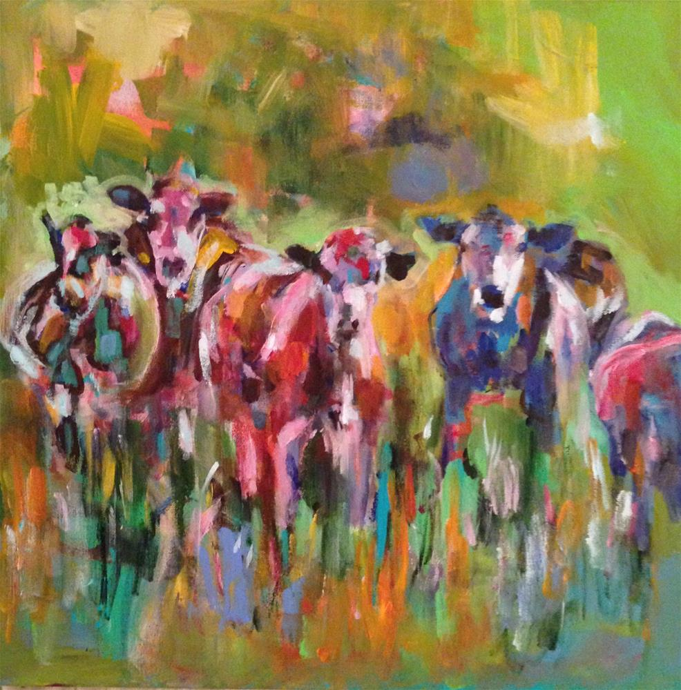 """Have You Herd?"" original fine art by Molly Wright"