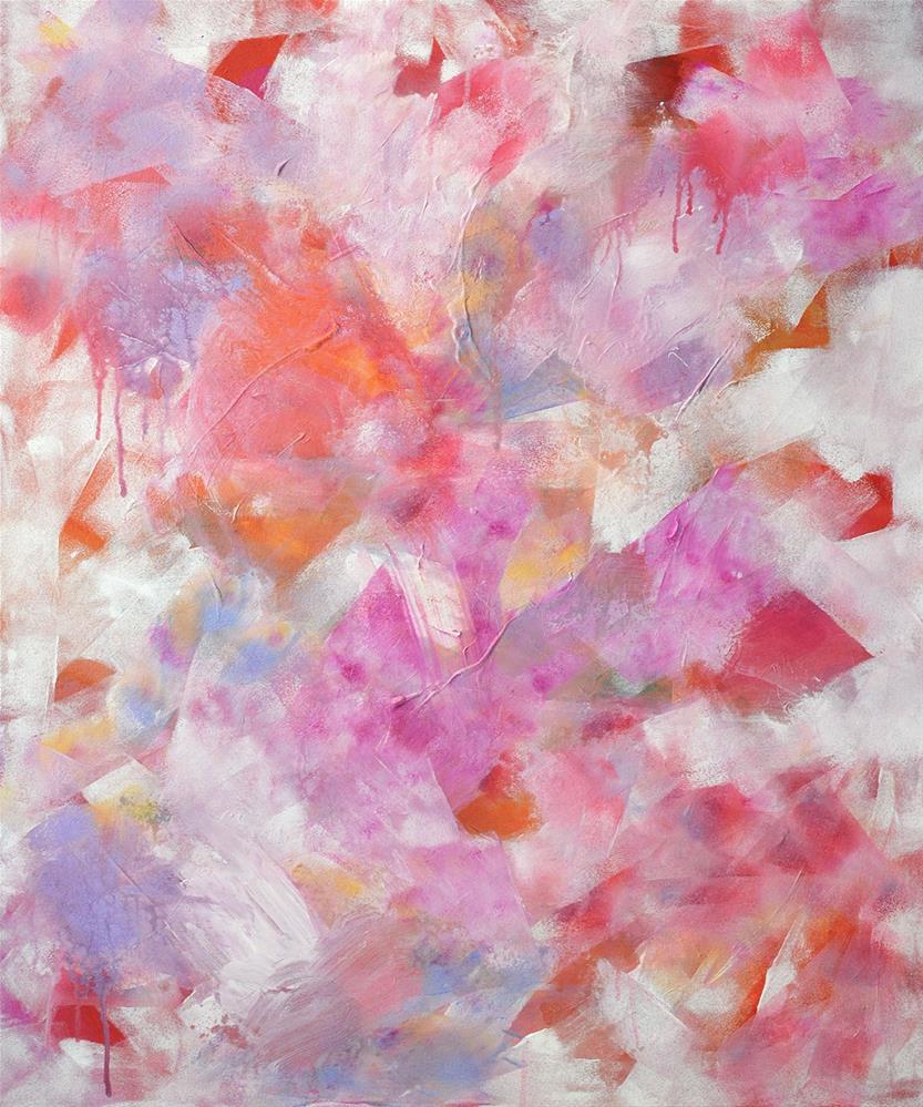 """Confetti Petals"" original fine art by Pamela Gatens"