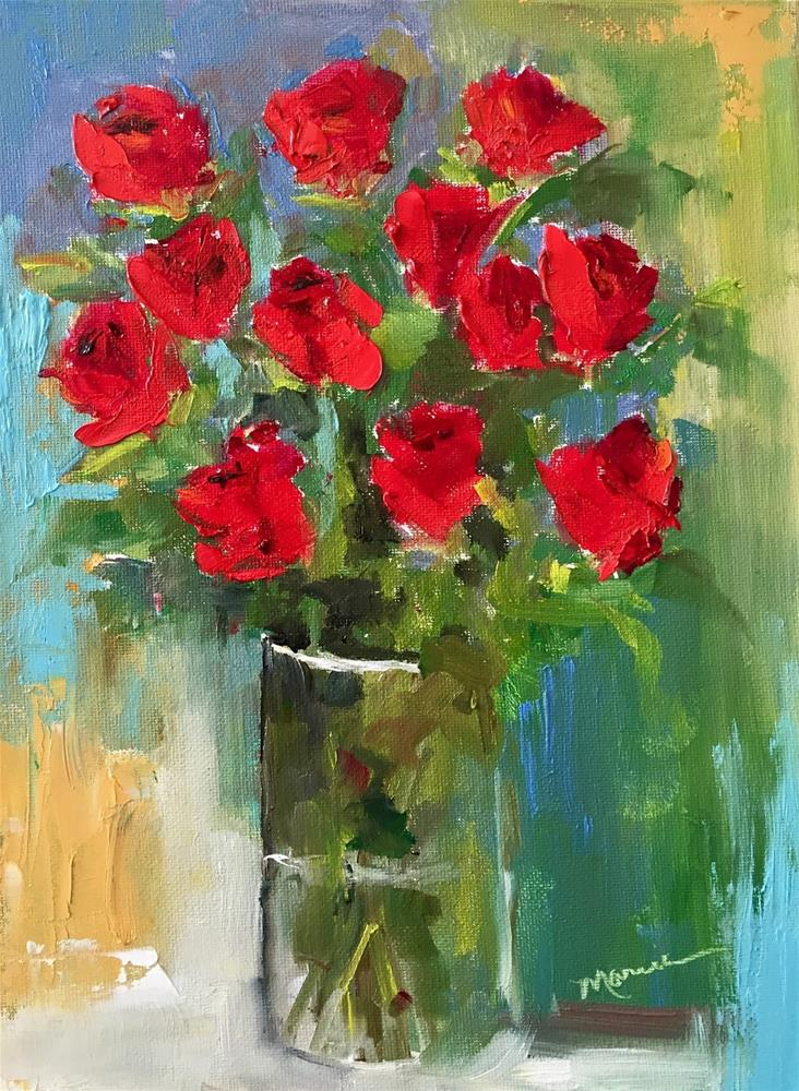 """A Dozen Roses"" original fine art by Marcia Hodges"