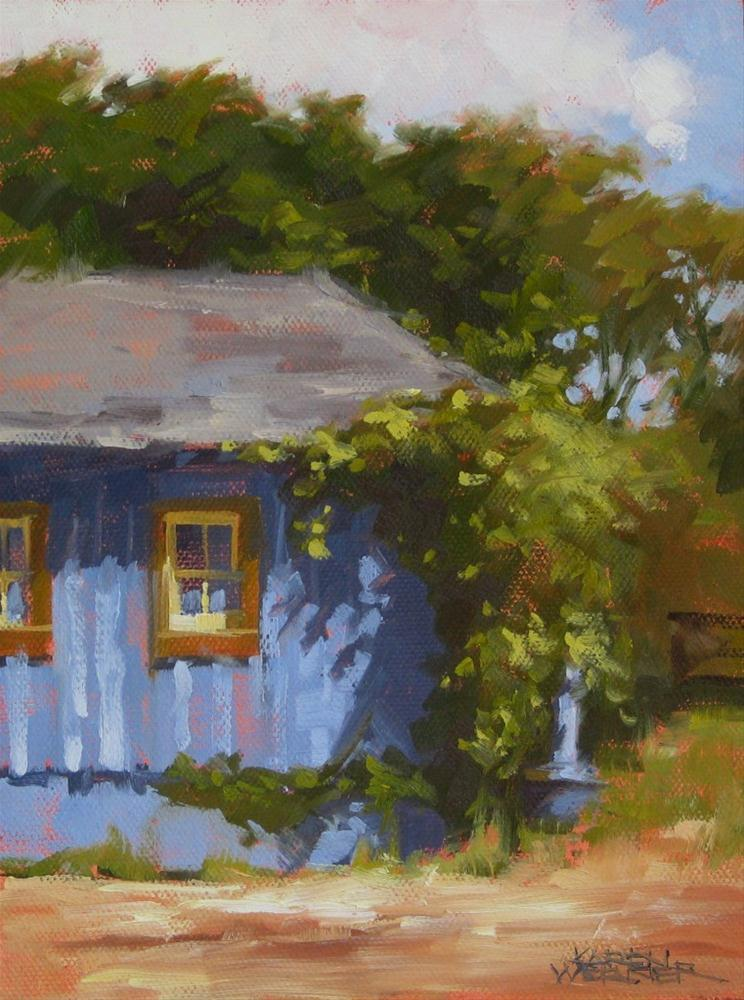"""Sunny Day Shed"" original fine art by Karen Werner"