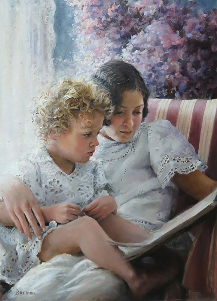 """""""sisters"""" original fine art by Harry Burman"""