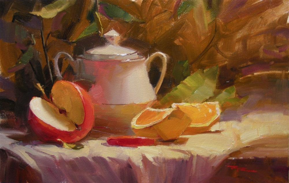 """Apple and Orange"" original fine art by Richard Robinson"