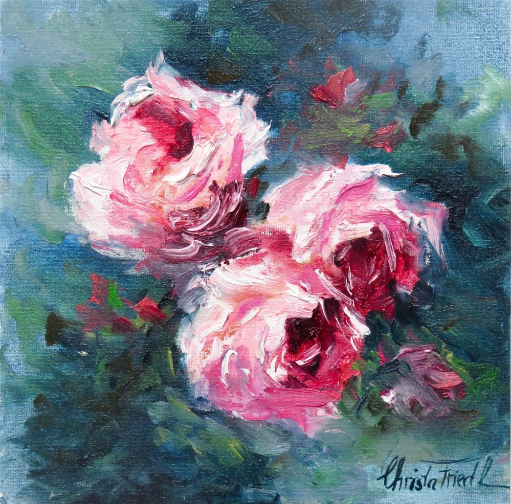 """Roses III"" original fine art by Christa Friedl"