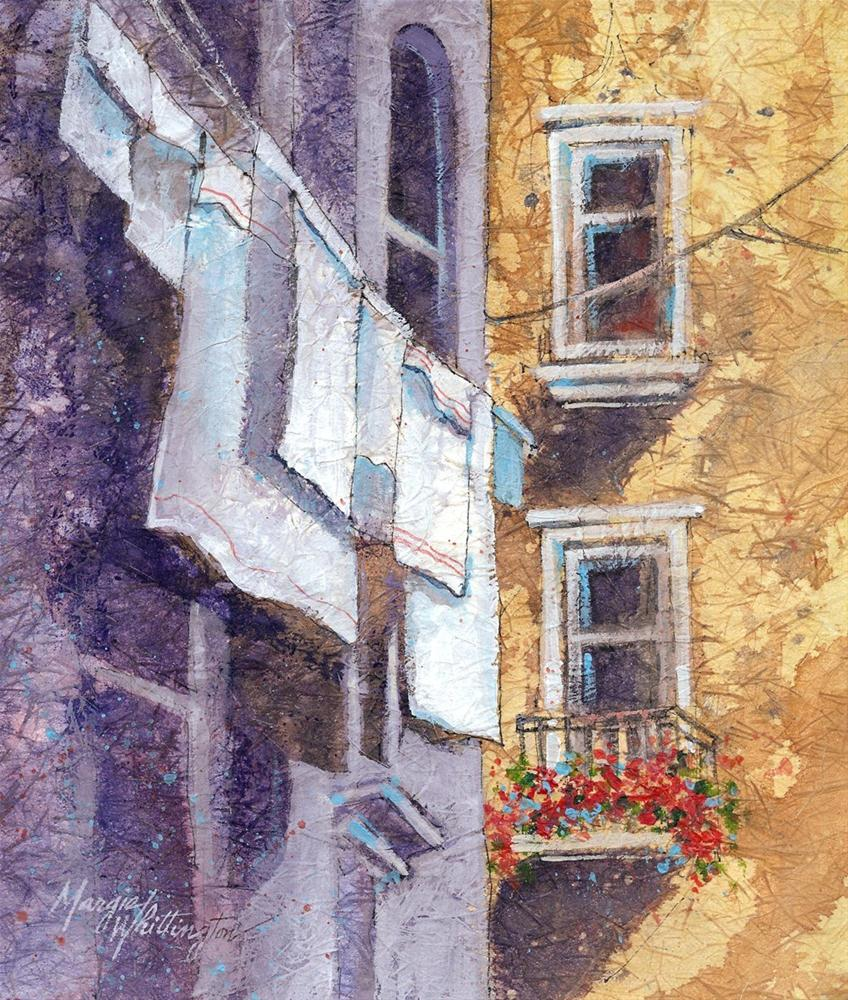 Venice Laundry 2 original fine art by Margie Whittington