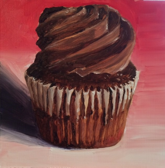 """Chocolate Cupcake"" original fine art by Tamsen Armstrong"