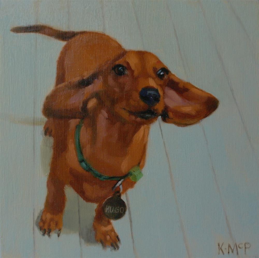 """Hugo"" original fine art by Kathleen McParland"