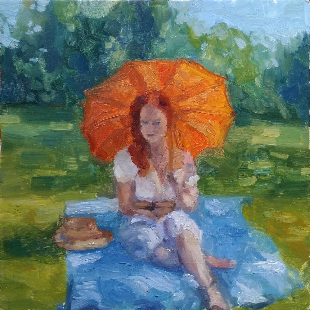 """Heather"" original fine art by Aleksandra Uzarek"