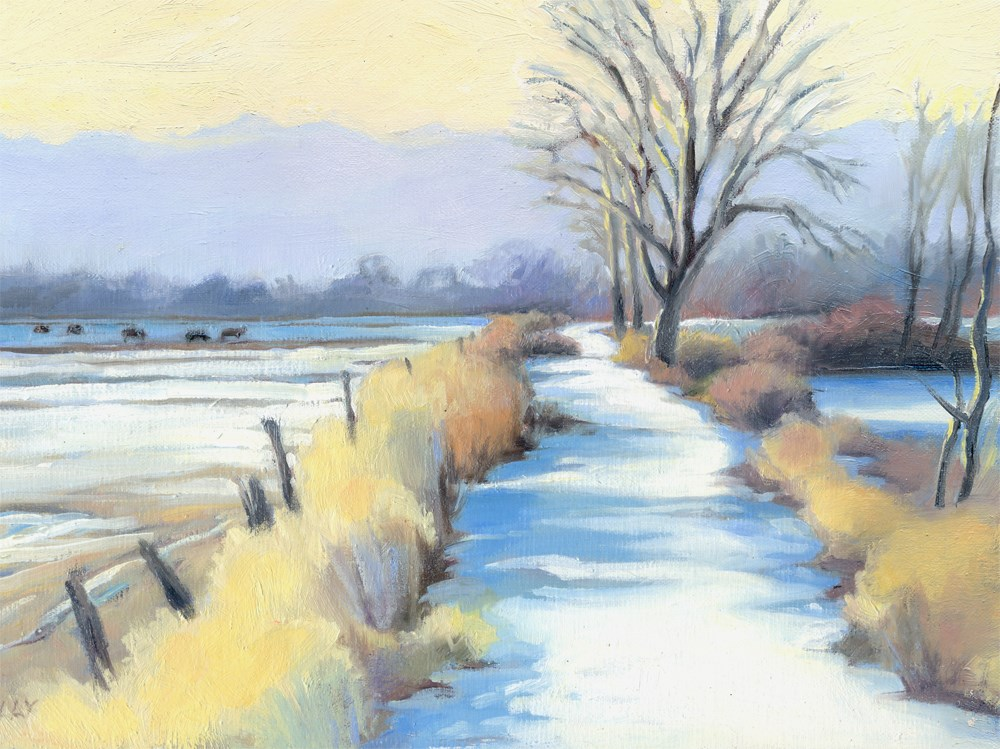 """Pella Path looking West"" original fine art by Kath Reilly"