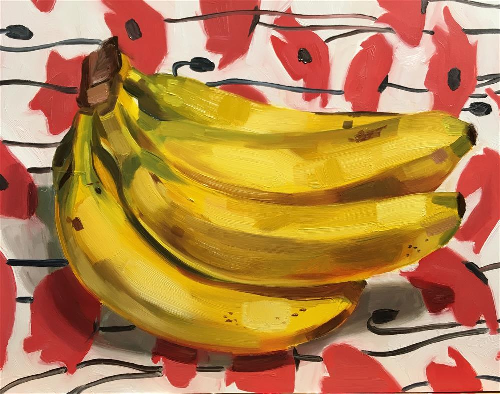 """Banana Study III"" original fine art by Katy O'Connor"