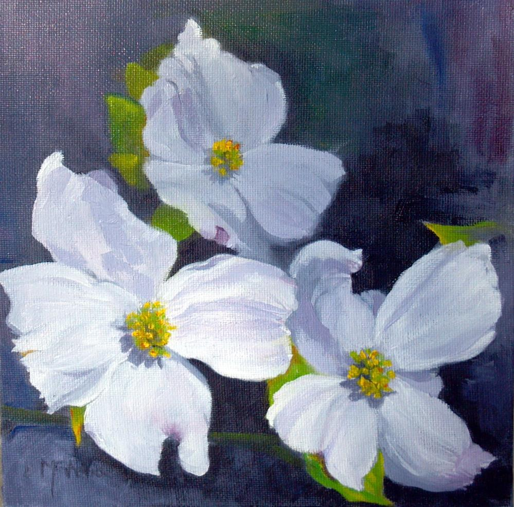 """Carolina Dogwoods"" original fine art by Maureen Ghetia"