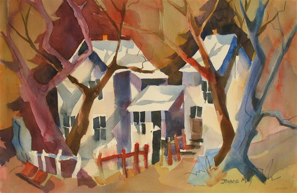 """Autumn Shadows"" original fine art by Jinnie May"