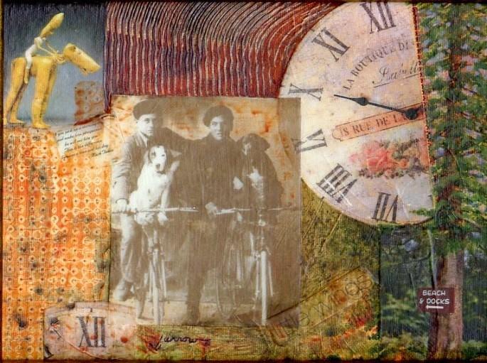 """Collage"" original fine art by Sue Furrow"