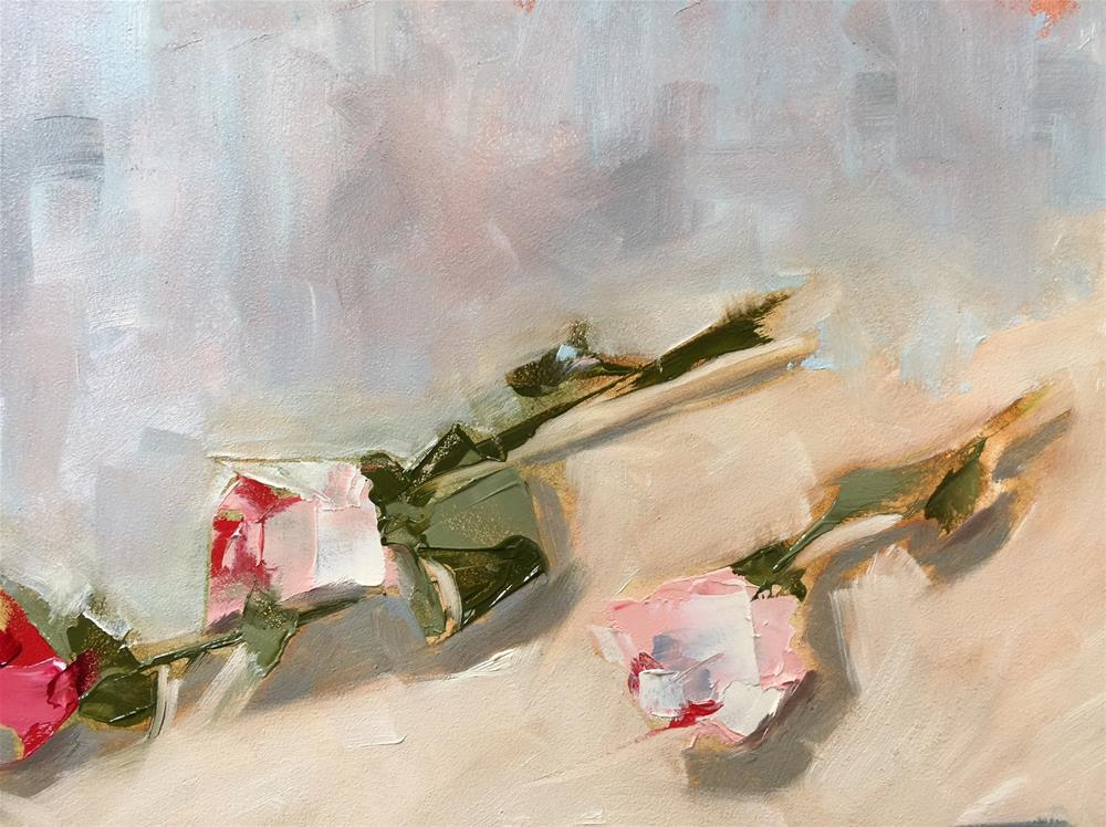 """122 Three Roses"" original fine art by Jenny Doh"