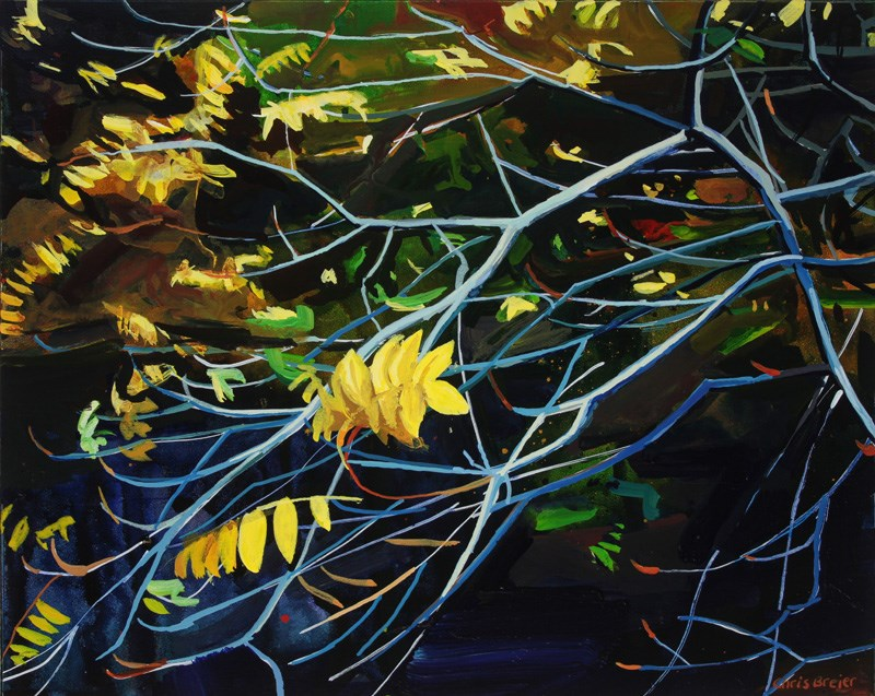 """Yellow Leaves I"" original fine art by Chris  Breier"