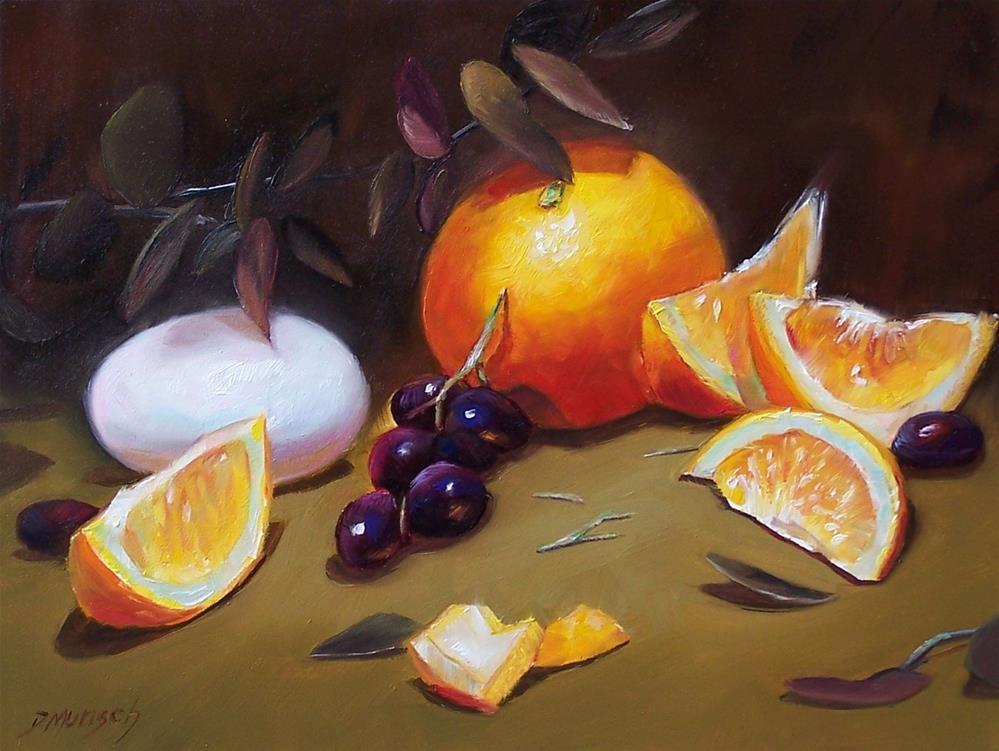 """Orange and Egg"" original fine art by Donna Munsch"