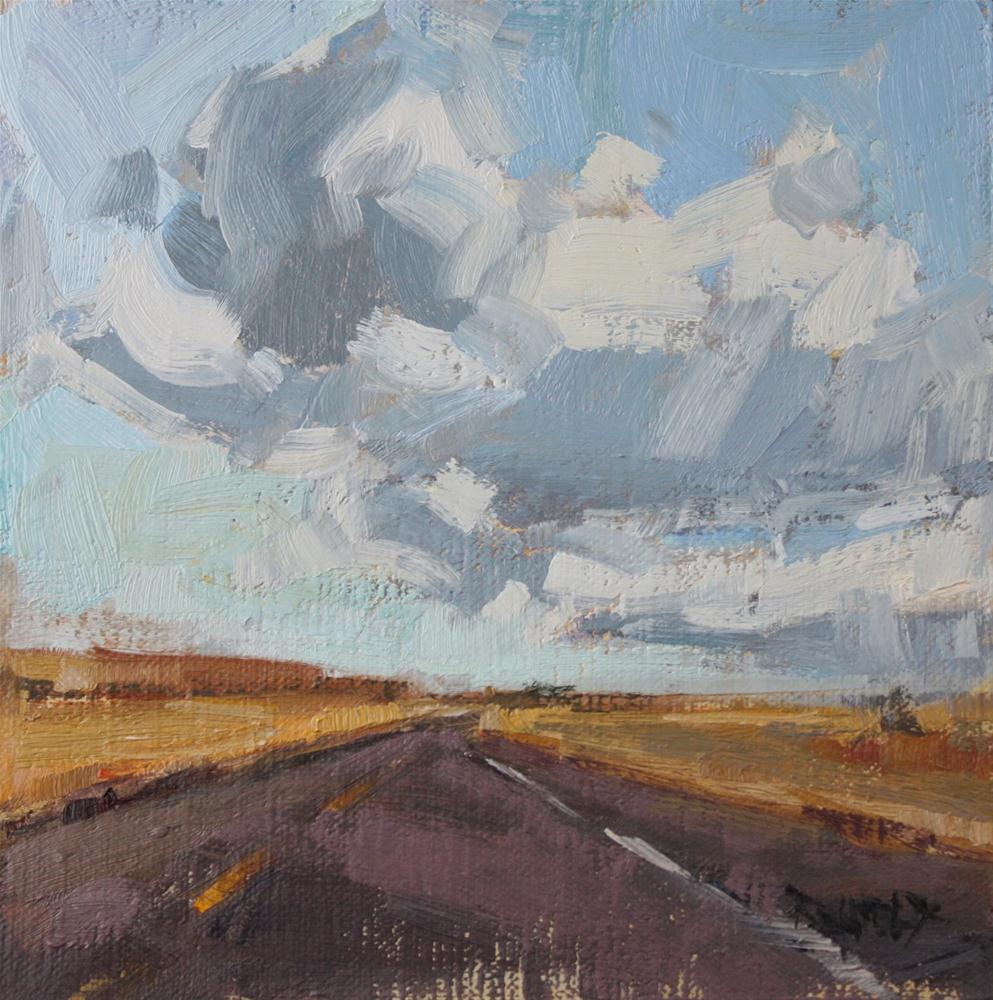 """High Desert Clouds"" original fine art by Cathleen Rehfeld"
