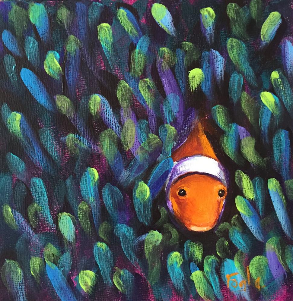 """Peek-a-boo"" original fine art by Rachel Fogle"