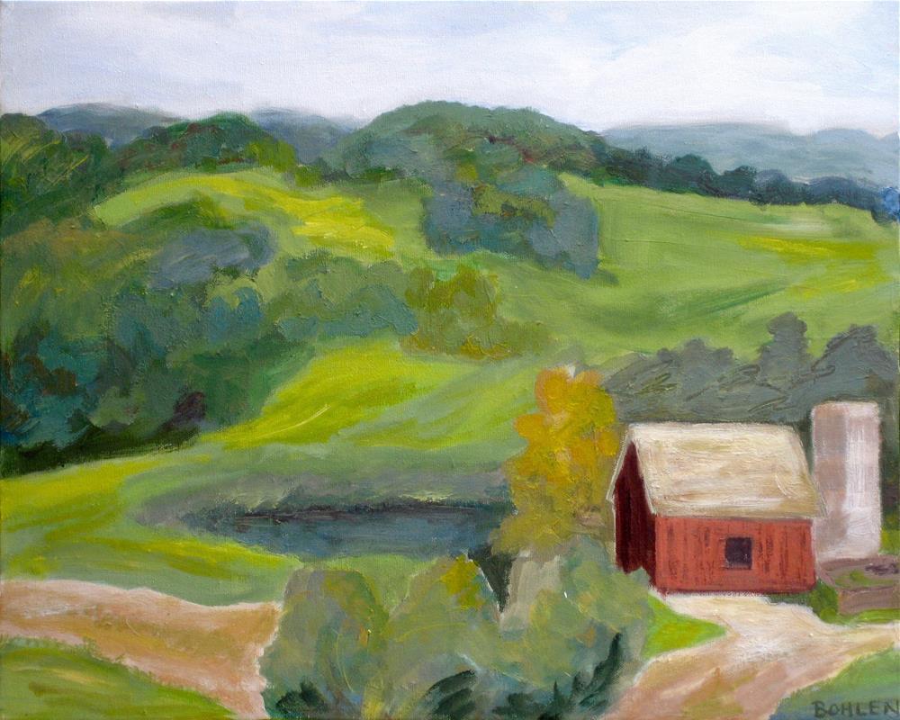 """Wyebrook Farm"" original fine art by Priscilla Bohlen"