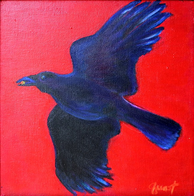 """As the Crow Flies"" original fine art by barbara quast"