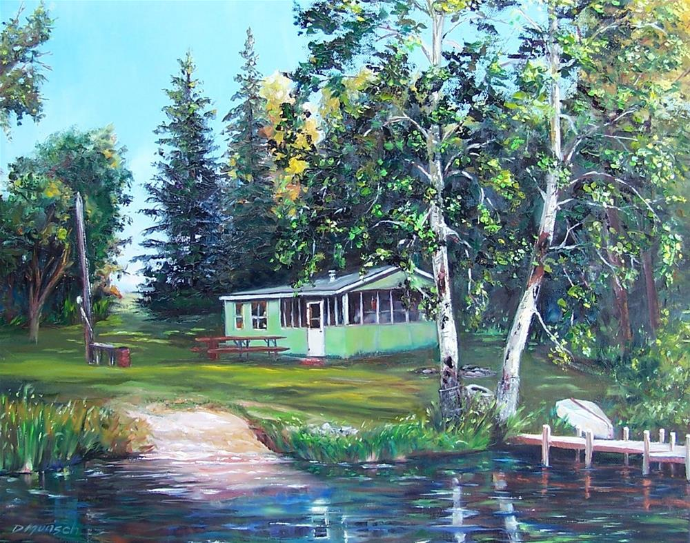 """Doc and Mabel's Cottage"" original fine art by Donna Munsch"