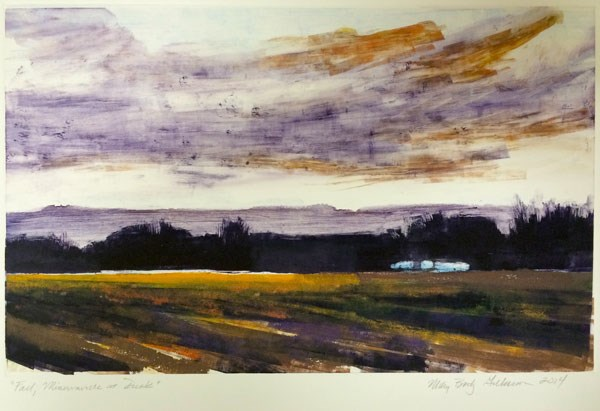 """Fall, Minervaville at Dusk"" original fine art by Mary Gilkerson"