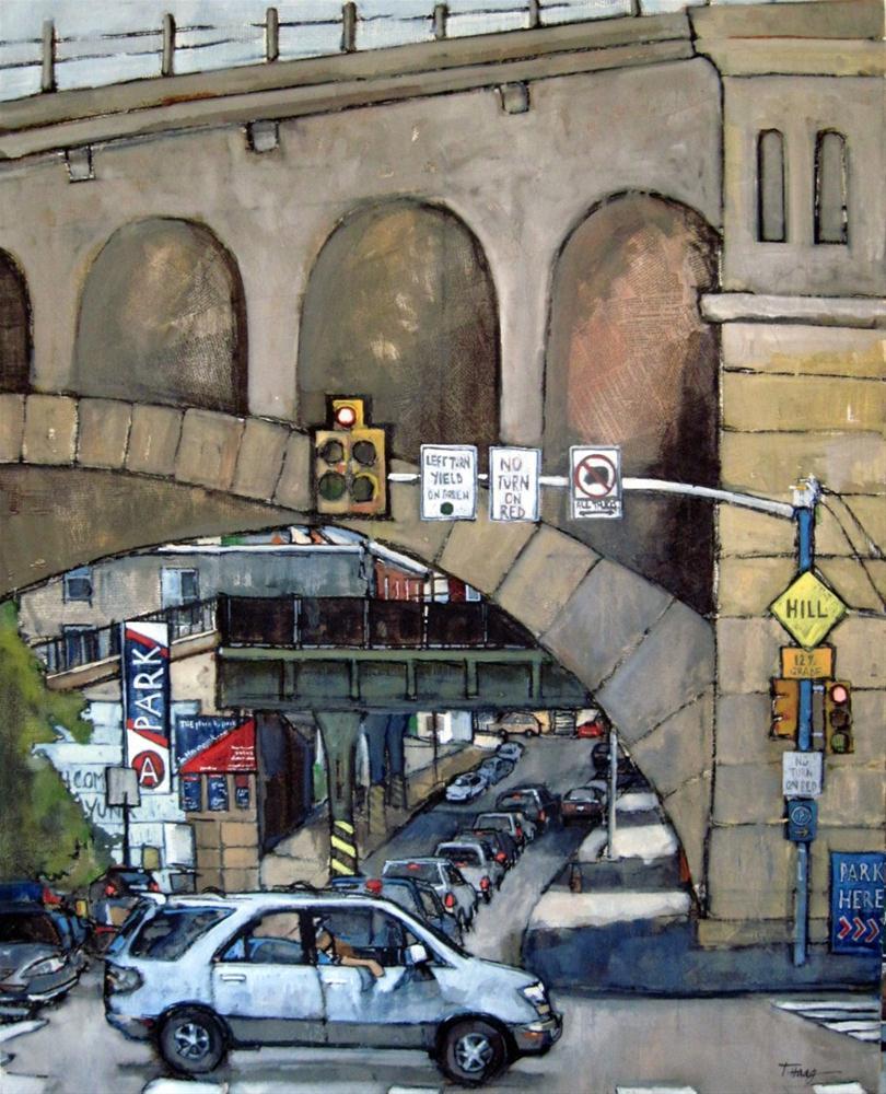 """Manayunk Bridge"" original fine art by Teresa Haag"