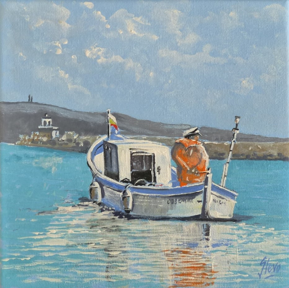 """Eftim Master Fisherman"" original fine art by Martin Stephenson"