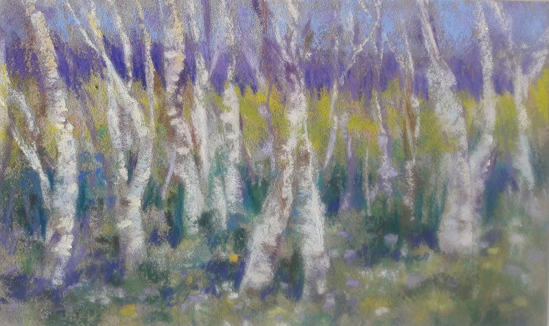 """Woods Walk Magic"" original fine art by Becky Chappell"