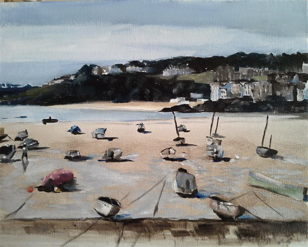 """St Ives, Cornwall"" original fine art by James Coates"
