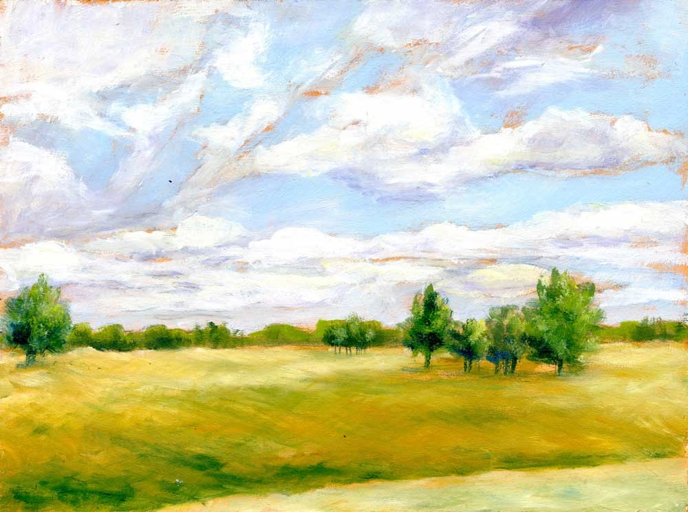 """""""River on the Horizon"""" original fine art by Eileen Hennemann"""