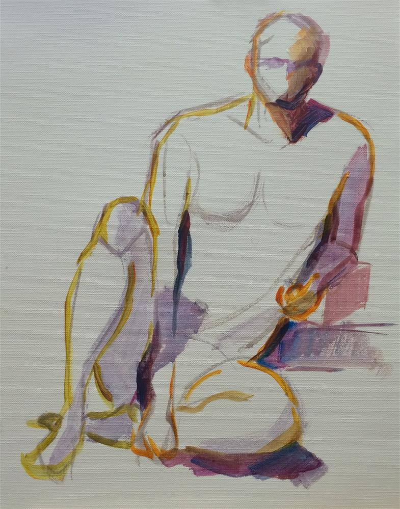 """Figure (Man)"" original fine art by Naomi Bautista"