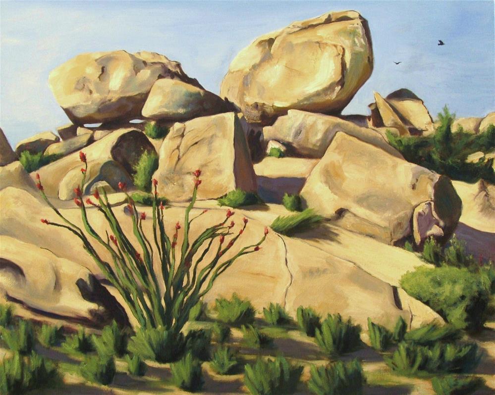 """Playground of The Ancients"" original fine art by Kaia Thomas"