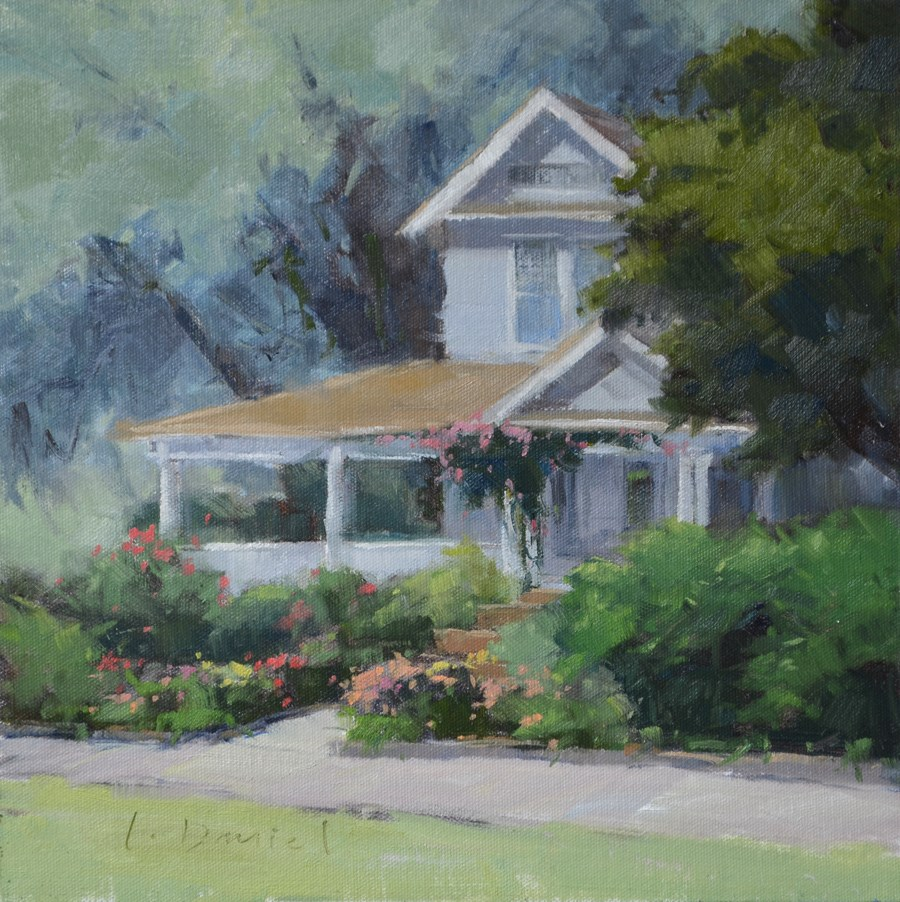 """English Garden - Georgia Coast"" original fine art by Laurel Daniel"