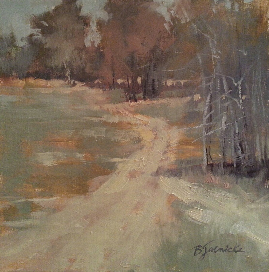 """Down the Dirt Road"" original fine art by Barbara Jaenicke"