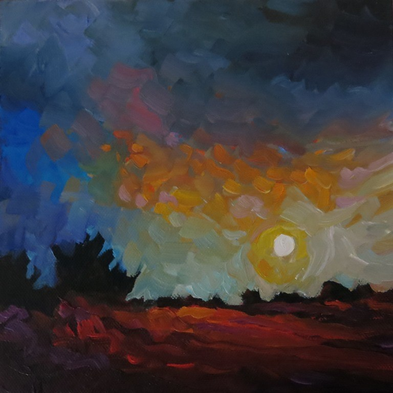 """MESA LIGHT"" original fine art by Dee Sanchez"