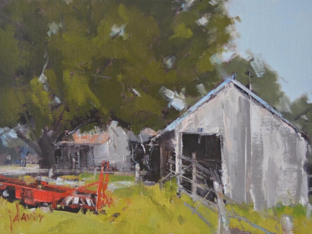 """""""Red Trailer"""" original fine art by Julie Davis"""