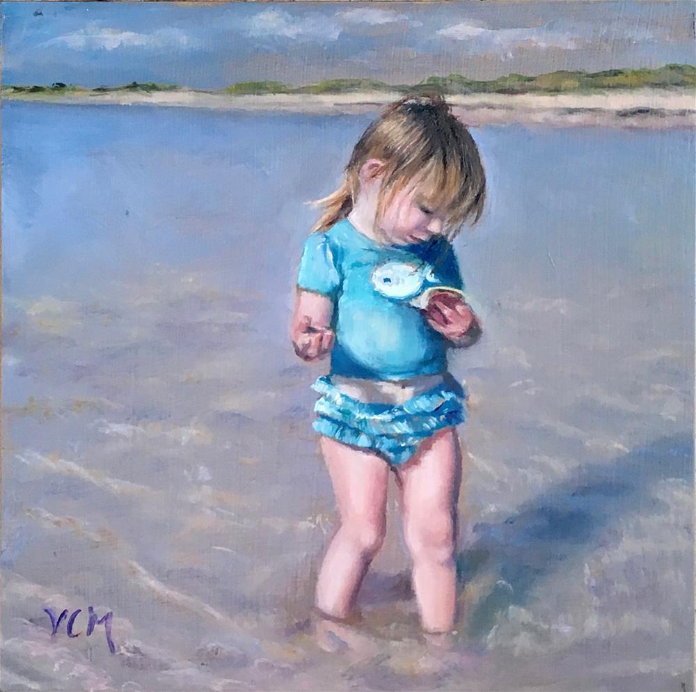 """Ruffles & Seashells"" original fine art by Vana Meyers"