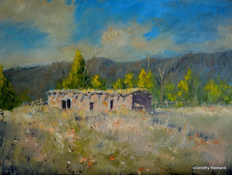 """Sprimgtime at Taos"" original fine art by Dorothy Redland"