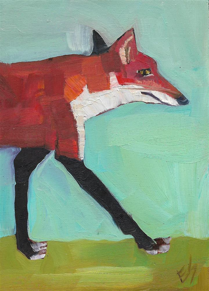 """Fox Walk"" original fine art by Elizabeth See"