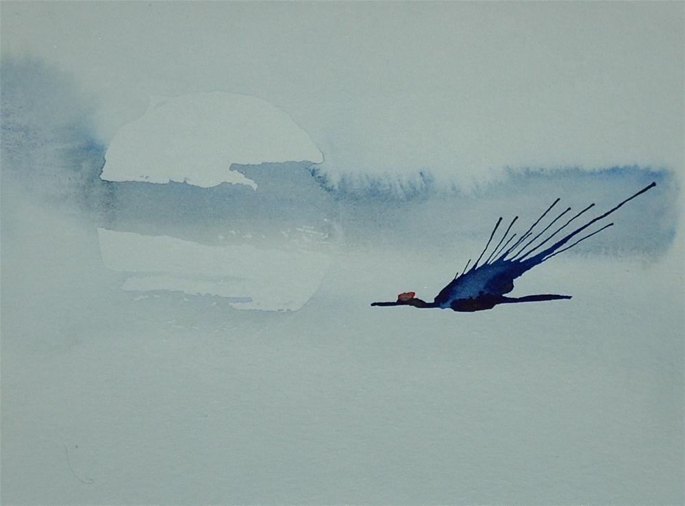 """Crane - 4"" original fine art by Ulrike Schmidt"