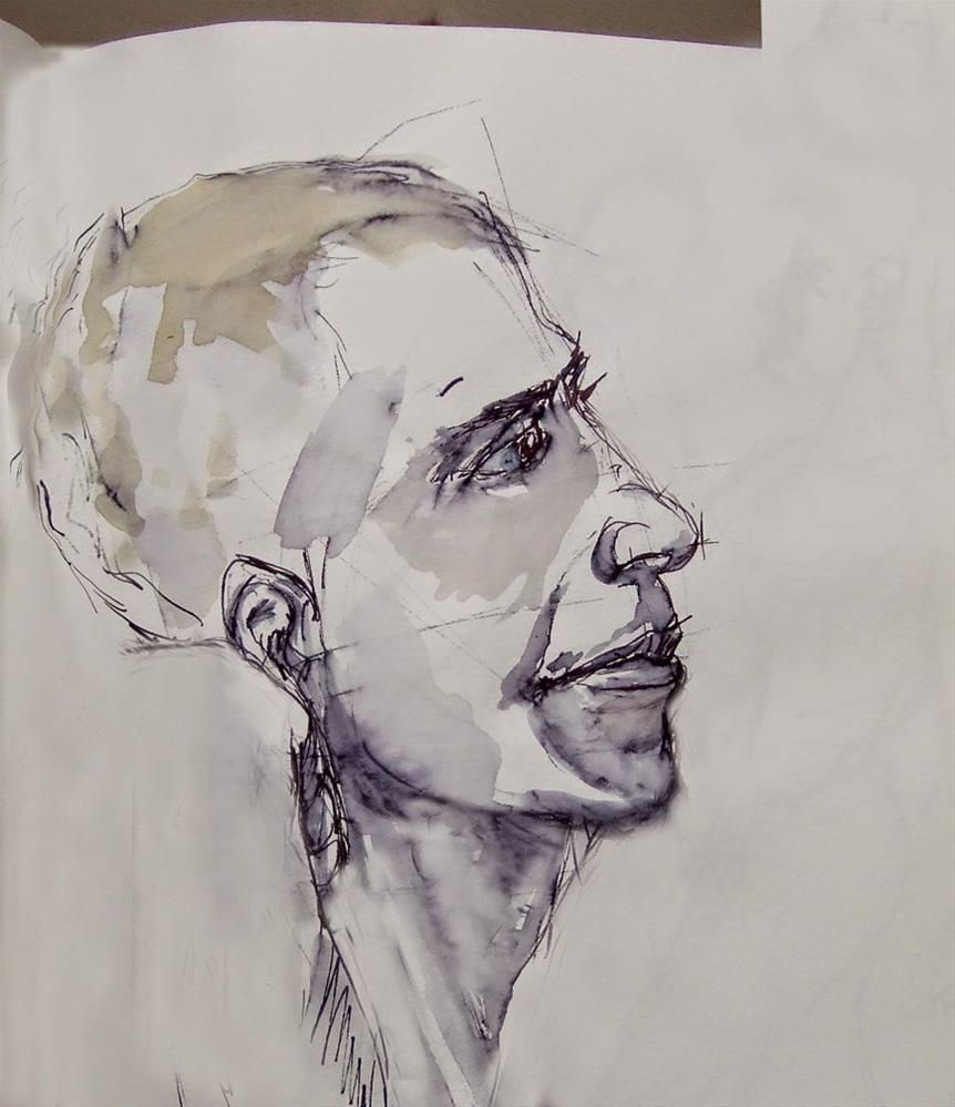 """Young guy"" original fine art by Mitsuru Cope"