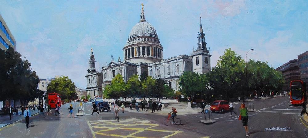 """St Paul's Panoramic view"" original fine art by Adebanji Alade"